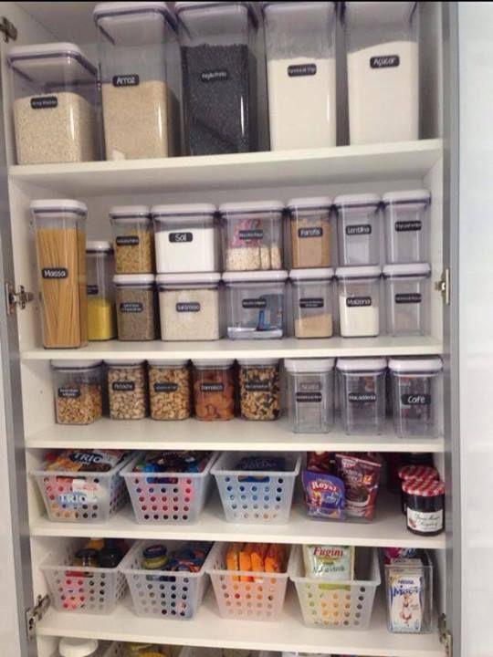 Dispensa organizada home sweet home pinterest - Armarios despensa ...