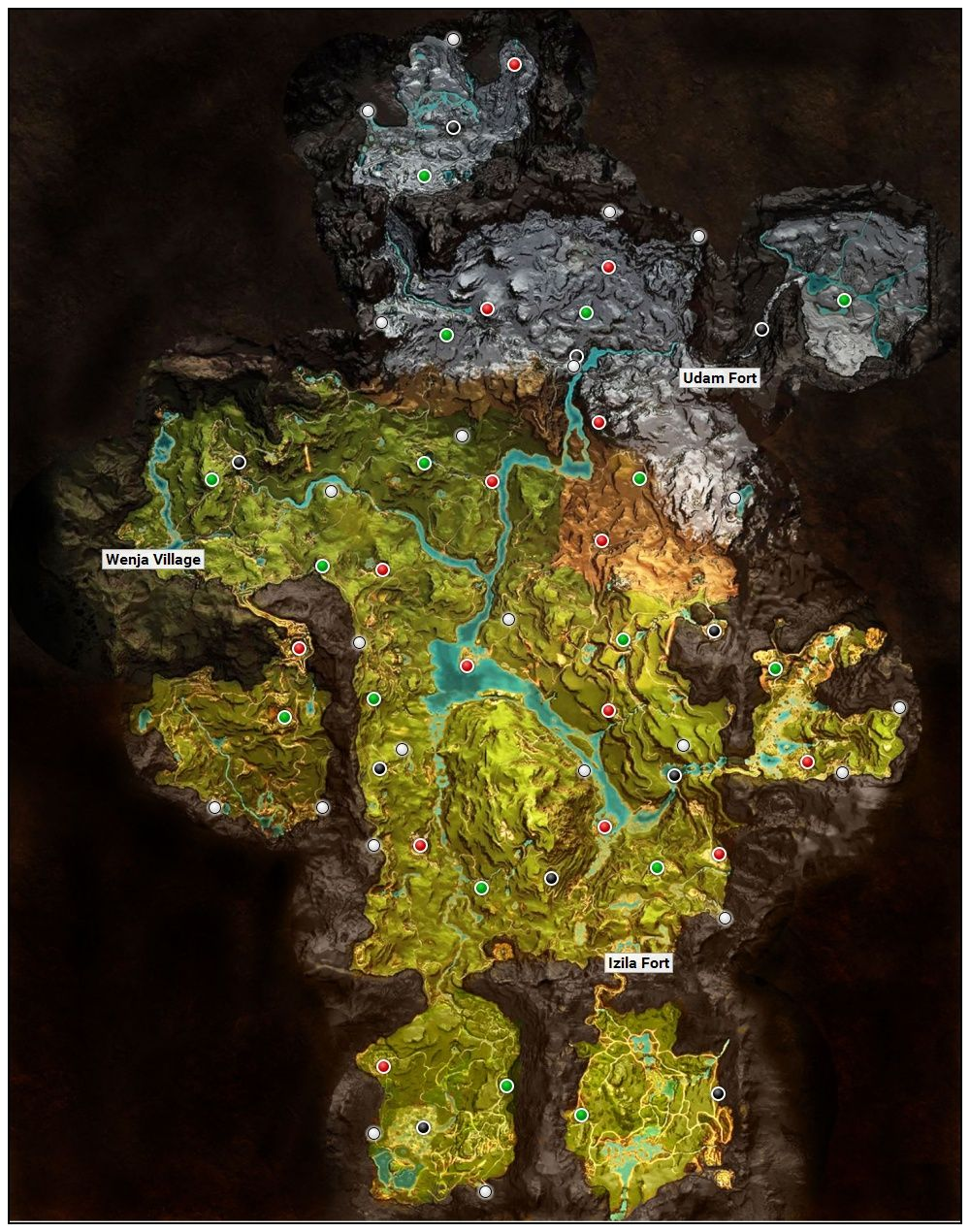 Far Cry Primal Oros Map Far Cry Primal Primal Game Map