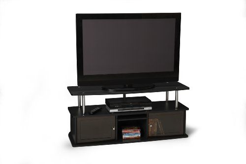 nice Convenience Concepts Designs2Go TV Stand with O Cabinets for Flat Panel TV's as much as 50-Inch or eighty five-Pounds, Black