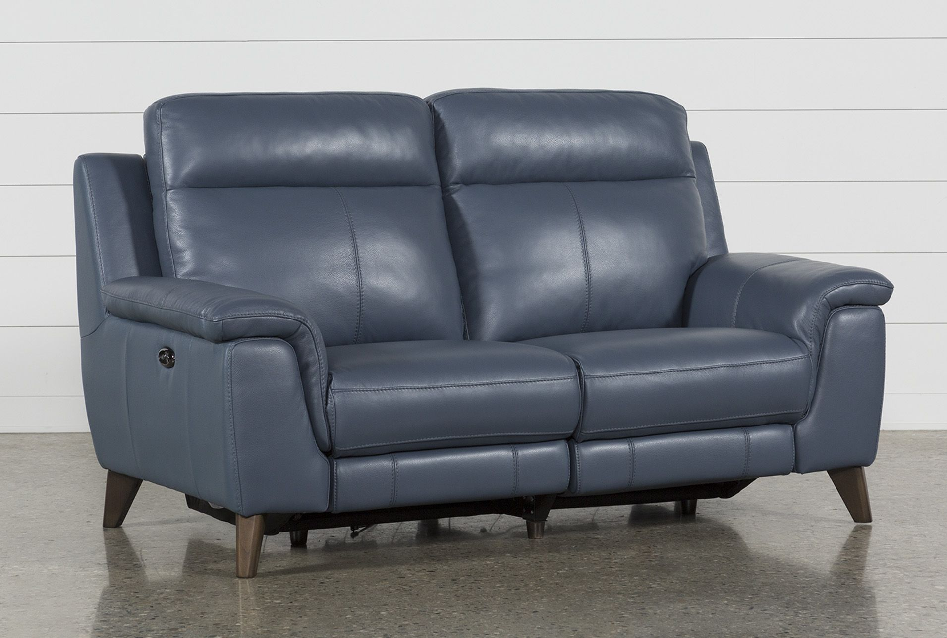 Brilliant Dual Power Reclining Loveseat With Usb Port Moana Blue Pdpeps Interior Chair Design Pdpepsorg