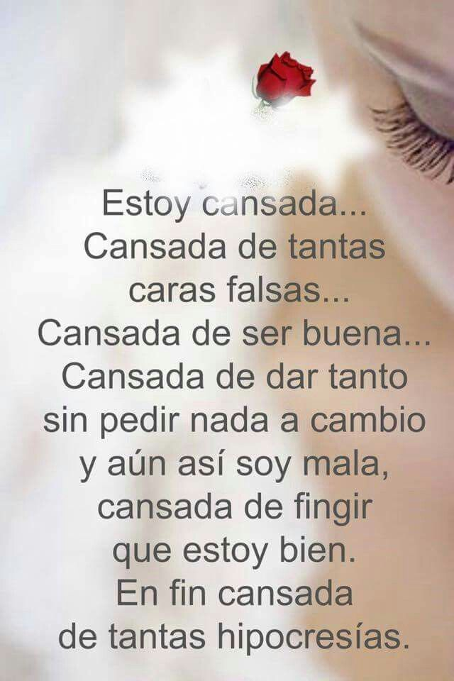 Estoy Cansada Quotes Quotes Inspirational Quotes Spanish Quotes