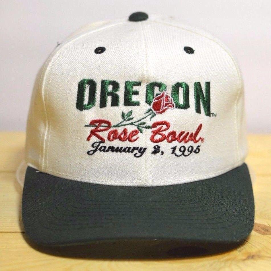 sports shoes 44524 758d2 ... coupon code oregon ducks rose bowl 1995 vintage hat white snapback u of  o cap university