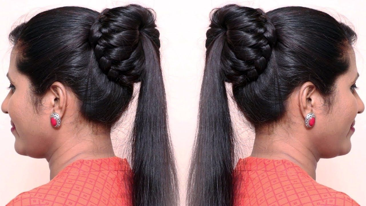 Beautiful Hairstyles for Party/Functions | Beautiful Bun Hairstyles 2019... | Very long hair ...