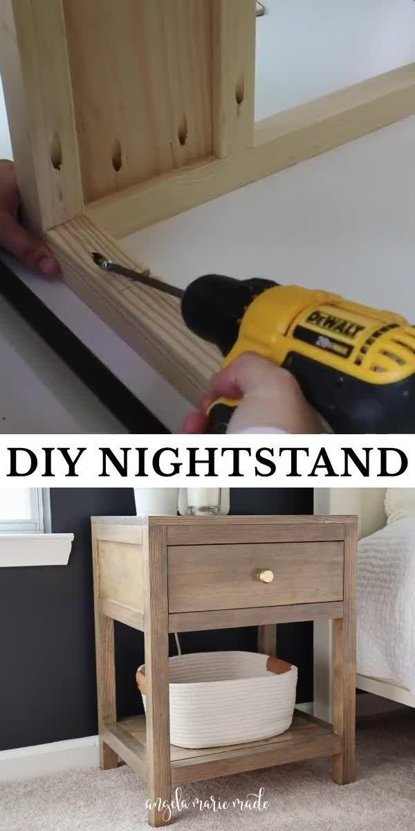 Photo of DIY Nightstand with Drawer