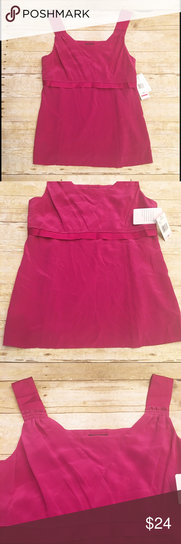 Nwt Nine West Pink Tank Top Size 10 Nwt Nine West Pink Tank Top In A Size 10 100 Silk By The Color Chart Posted It I Fashion Clothes Design Fashion Design