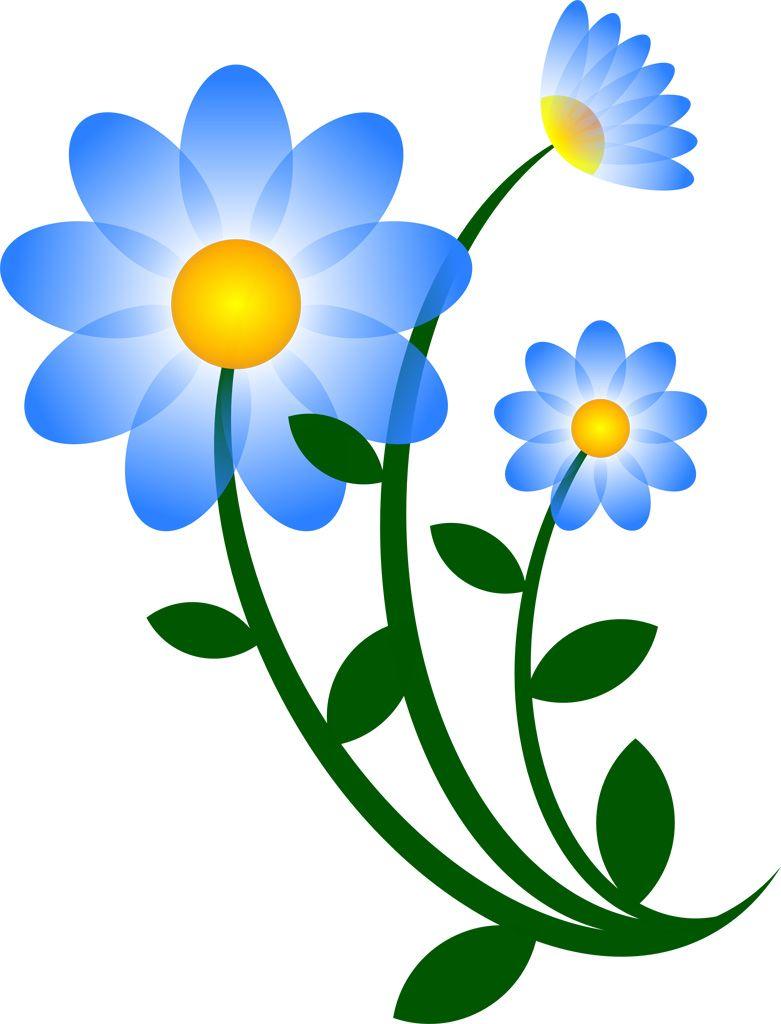 フリーイラスト素材] クリップアート, 花, 植物, 青色の花, svg id