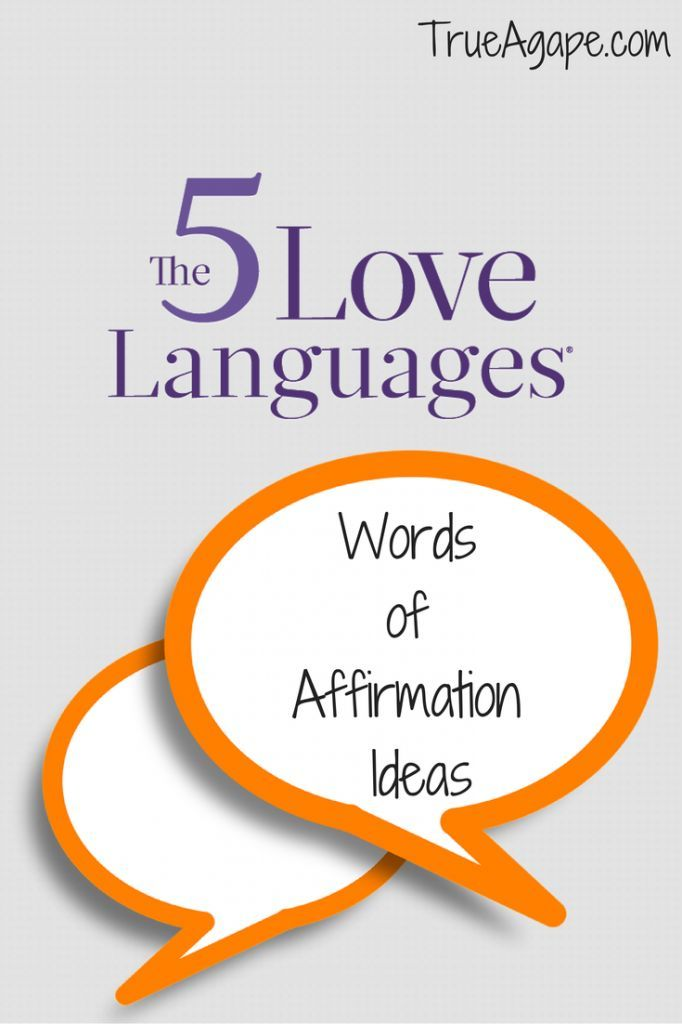A List Of Ideas To Create Some Variety When Speaking Words Of Affirmations