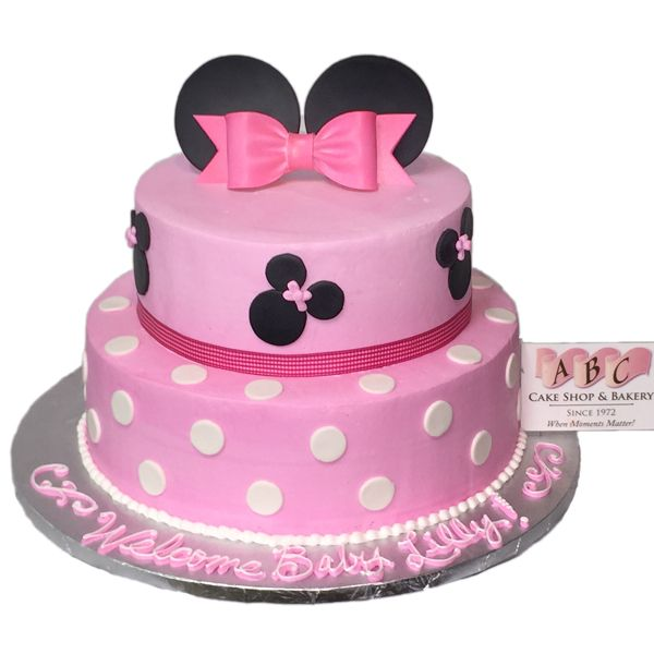 Minnie Mouse Baby Shower Cake Baby Shower Cakes Pinterest