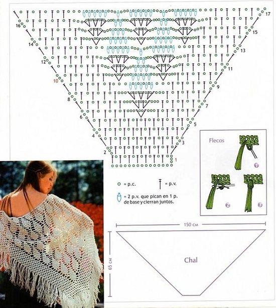 Aledavisa: CHAL PARA UNA BODA (CON GRÁFICO)   Crochet   Pinterest ...