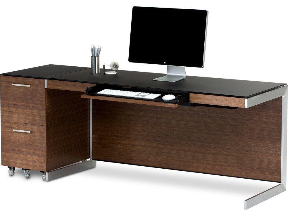 Bdi Sequel Natural Walnut Office Set Walnut Computer Desk