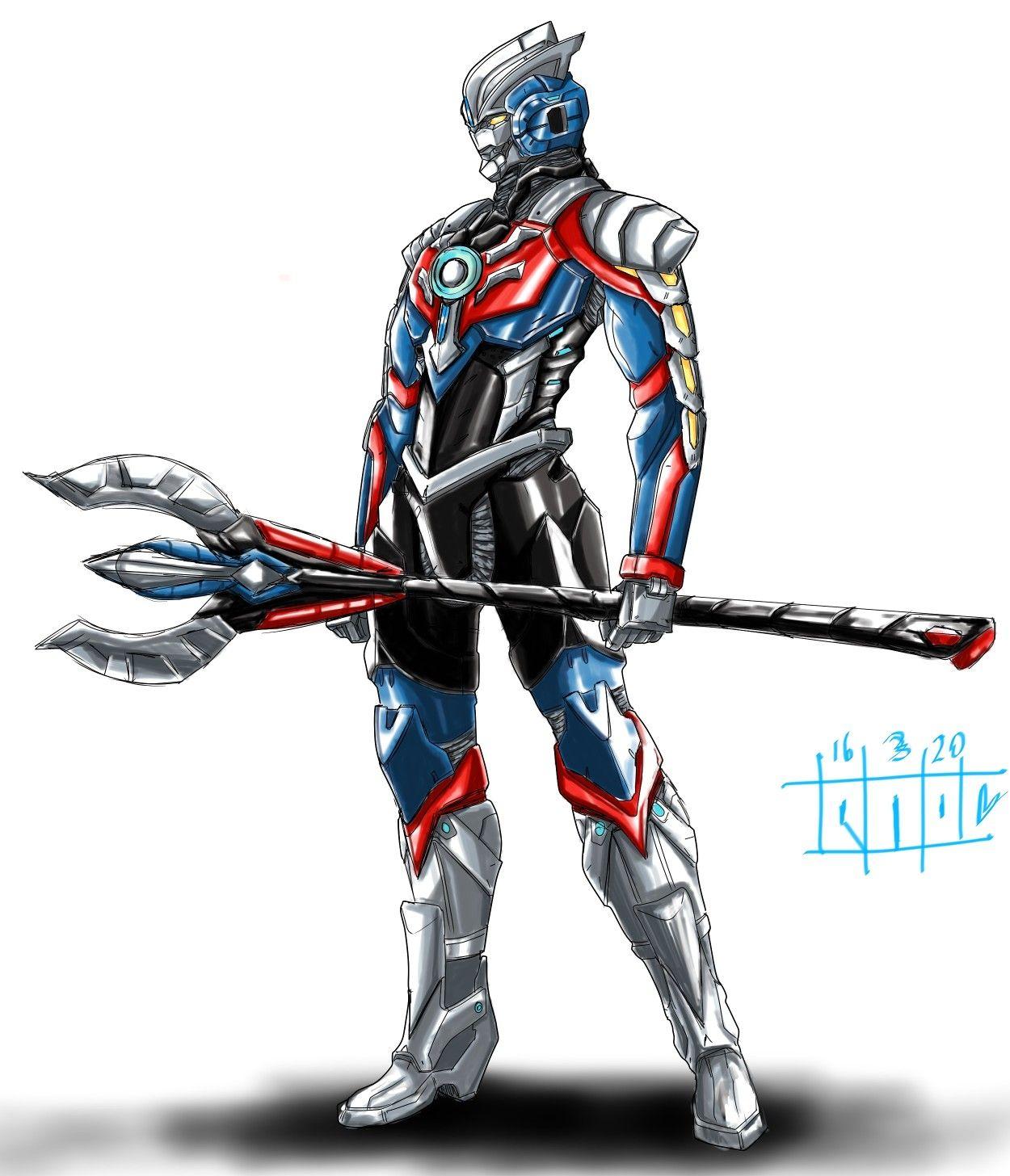 Ultraman Orb Hurricane Slash Equipment In 2020 Futuristic Armour Armor Concept Superhero Design