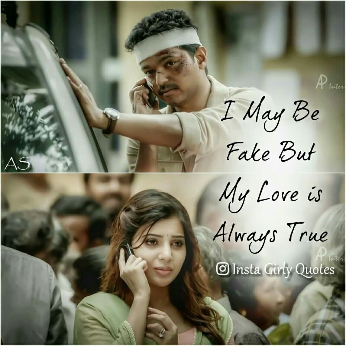 Theri Vijay Samantha Cute Quote s art Pinterest