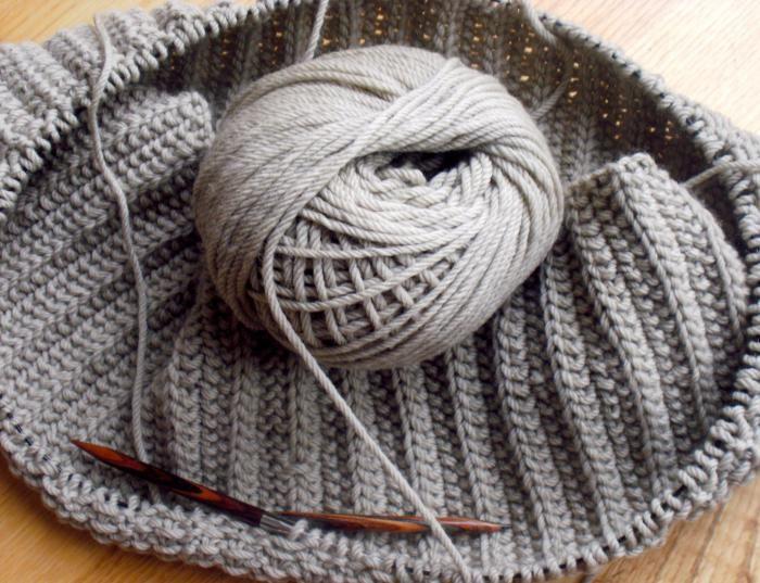 Схема вязания французской резинки спицами для шарфа 150