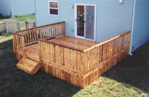 14 39 X 14 39 Deck With Solid Apron Building Plans Only At