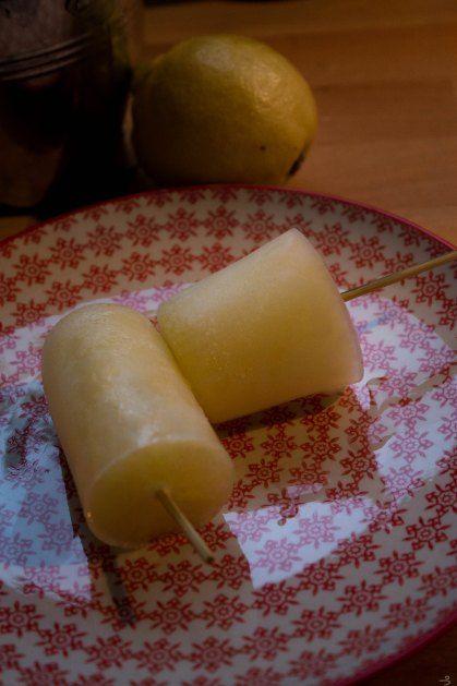 Glace à leau citron