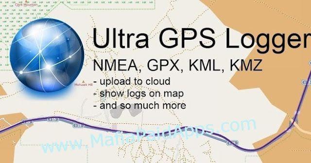 Ultra GPS Logger v3.119d Apk formats NMEA KML GPX CSV