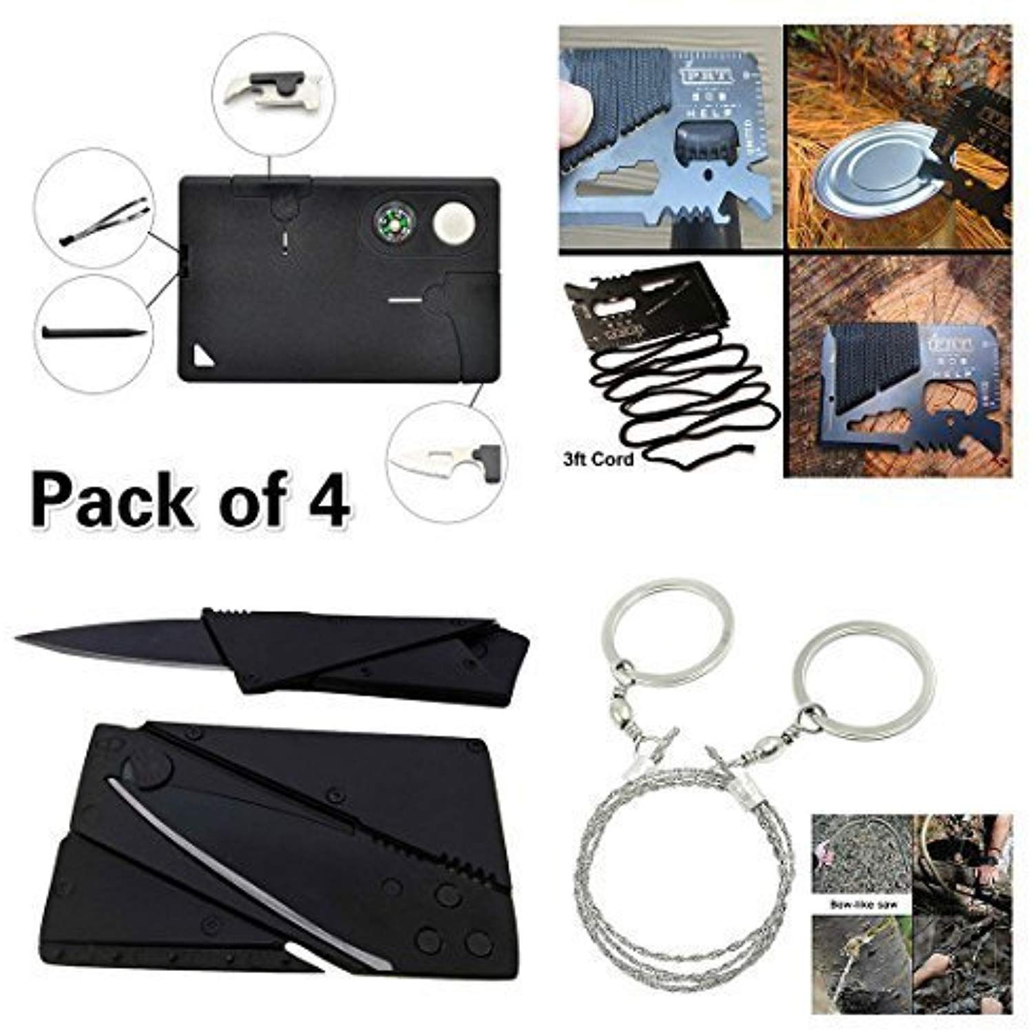 Credit Card Tool Gadgets Survival Kit With 14-in-1 Credit