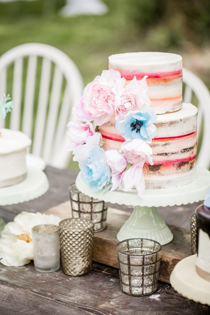 Inspiration Gartenhochzeit, Hochzeitstorte, Papierblumen | Bio bäckerei, Hochzeitstorte