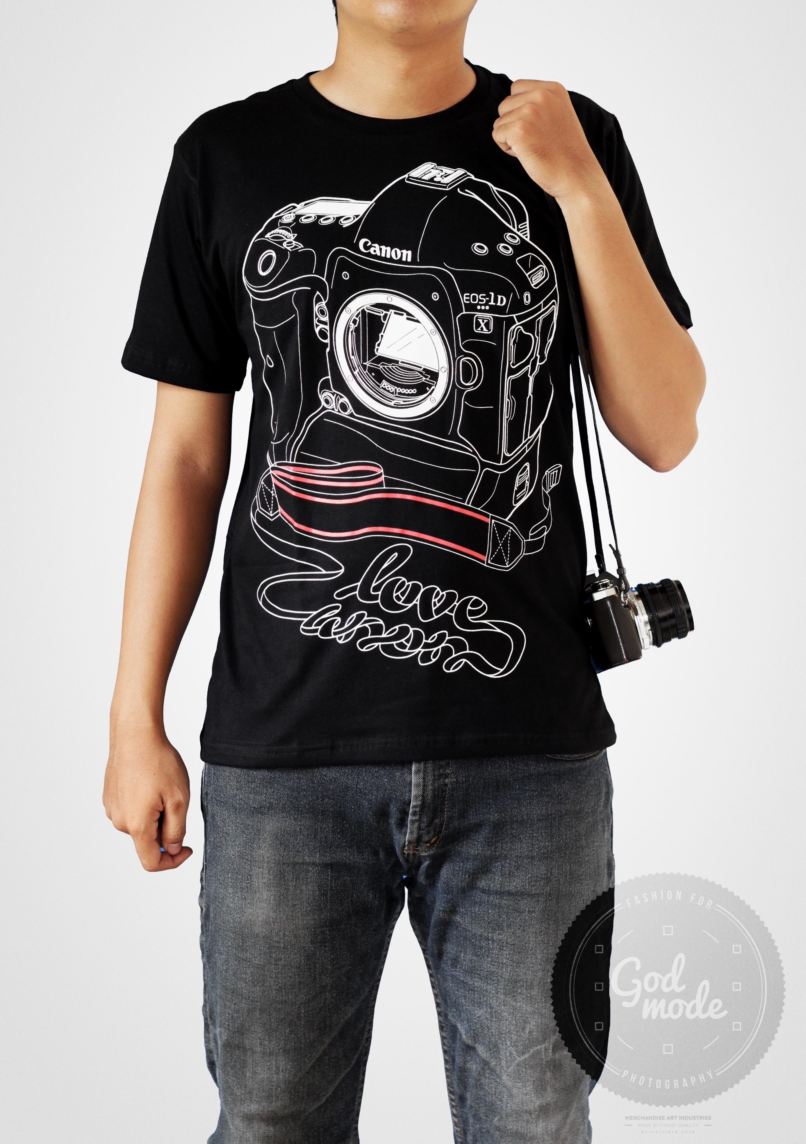 Black t shirt ebay -  18 Usd Canon T Shirt Photography Love Art
