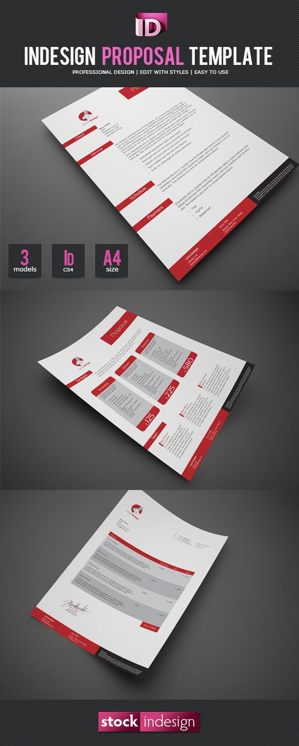 Indesign Proposal Template I  Graphic Design Mockups