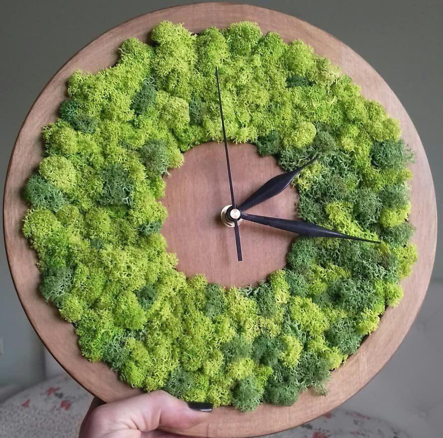 Best Personalized Christmas Gifts Moss Decor Green Clocks Moss Art