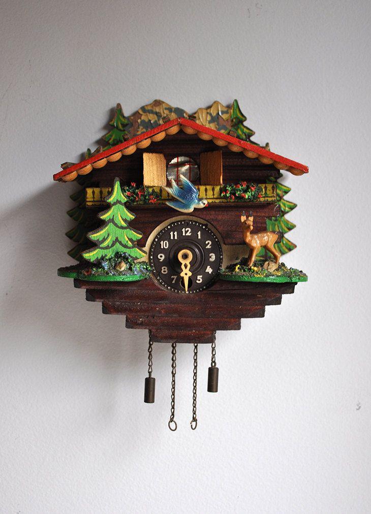 Vintage German Cuckoo Clock Via Etsy Cuckoo Clock Clock