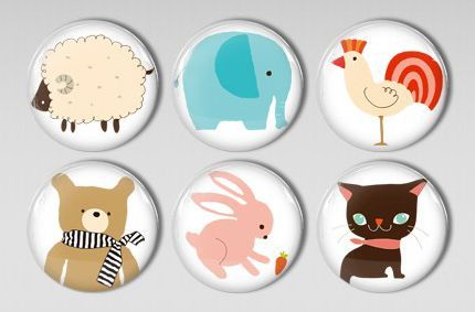 Cute Animal Magnets Forest Creatures Cute Animals Cute