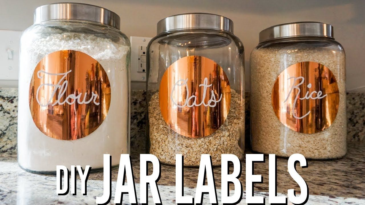 Diy pantryjar labels youtube jar labels pantry