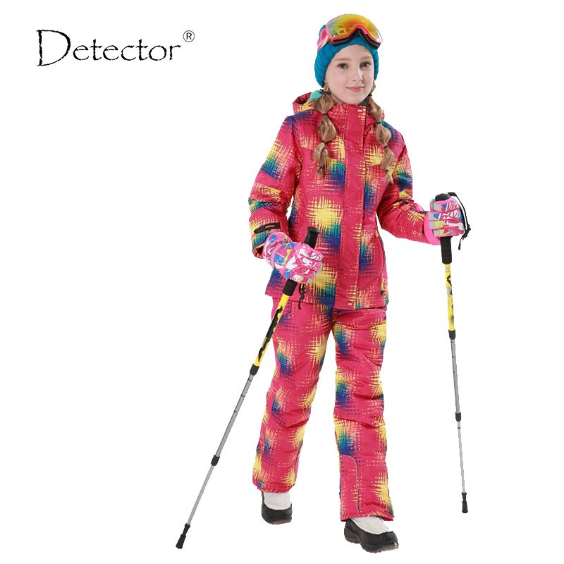 Winter Outdoor Children Clothing Set Windproof Ski Jackets + Pants Kids Snow  Sets Warm Skiing Suit For Boys Girls 0e8bc97e9