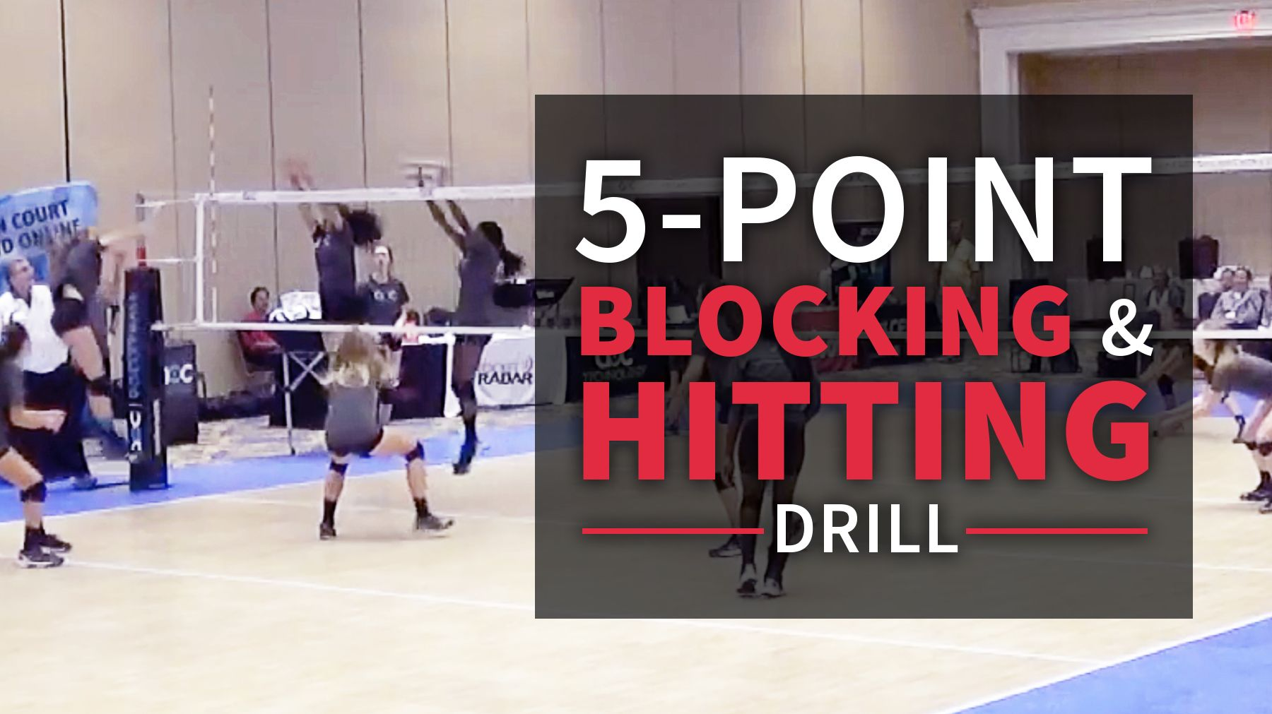 Competitive 5 Point Blocking And Hitting Drill Coaching Volleyball Volleyball Drills Drill