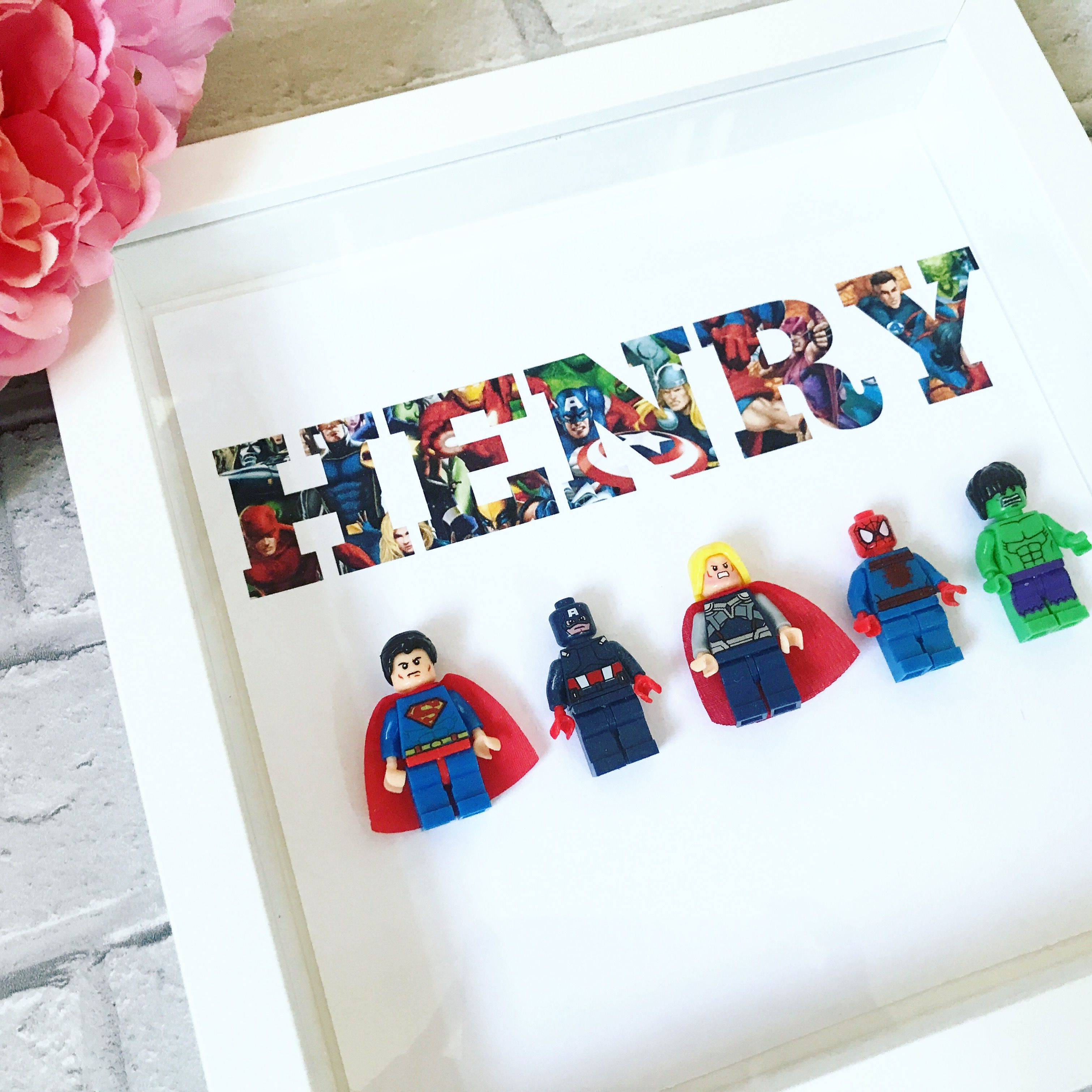 Personalised Superhero Frame Perfect For Those Little Boys Bedrooms Or