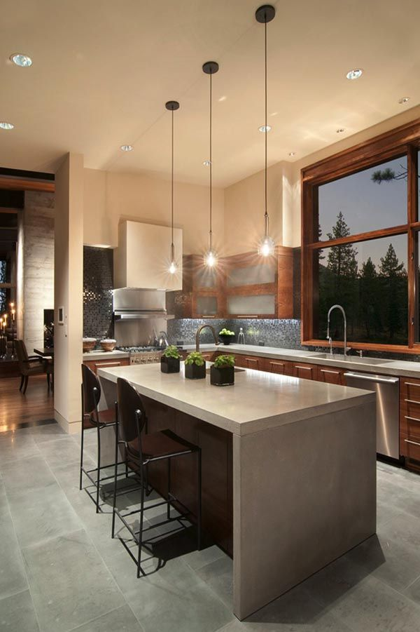 Best 40 Amazing And Stylish Kitchens With Concrete Countertops 400 x 300
