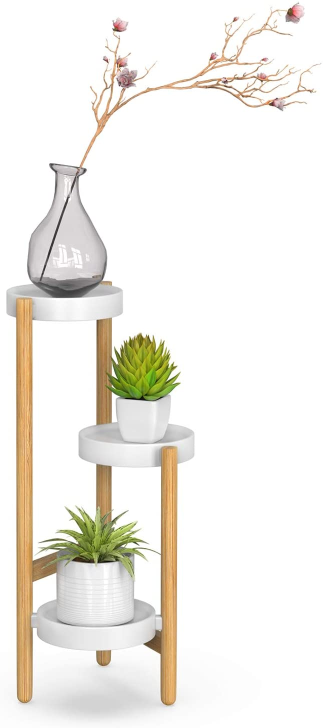 Amazonsmile Bamboo Plant Stands Indoor 3 Tier Tall Corner Plant Stand Holder Plant Display Plant Stand Indoor Tiered Plant Stand Indoor Plant Stand Decor