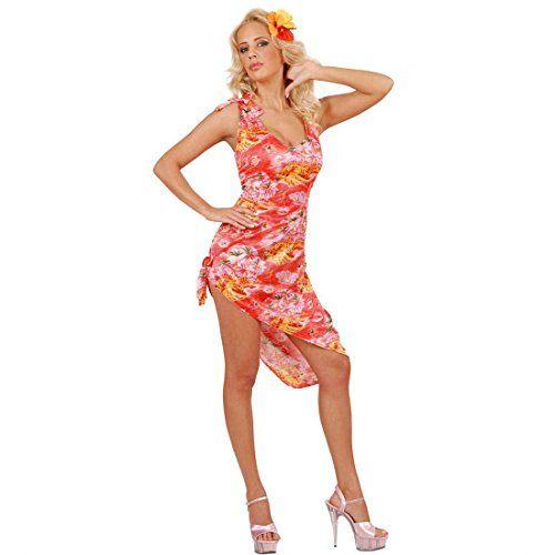 Kurzes Sommerkleid Hawaii Kleid Kostüm Hawaii Sommer Damenkleid ...