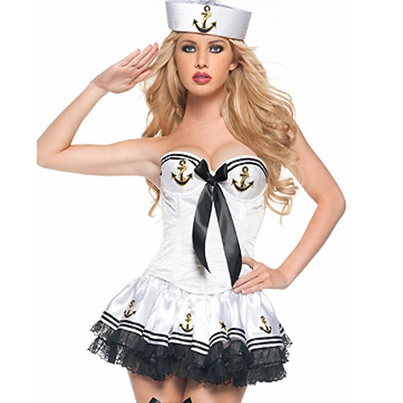 Click to buy fantasy marinheira white high quality adult sexy 2014 packages mail sailor suit sapphire navy take auto show costumes halloween costumes female police uniform air hostess sciox Choice Image