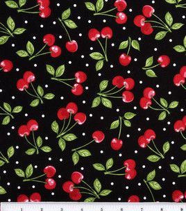 Novelty Cotton Fabric-Dots with Cherries : novelty quilt fabric : quilting fabric & kits : fabric :  Shop | Joann.com