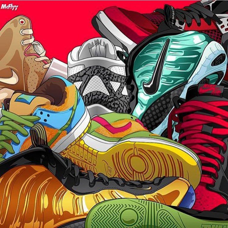 Nike Soccer Wallpaper: #sneakerart #artist @itsmcflyy