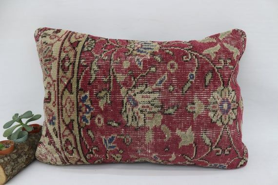 16x24 Tribal Pillow, Gift Rug Pillow, Pillow Covers, Red Pillow, Outdoor Pillow,Embroidered Pillow,