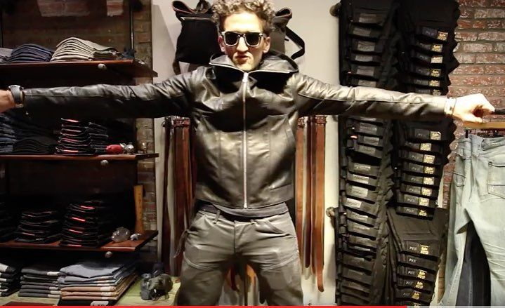 1e4030e4cf  caseyneistat was in last night to pick up his new custom leather jacket we  made