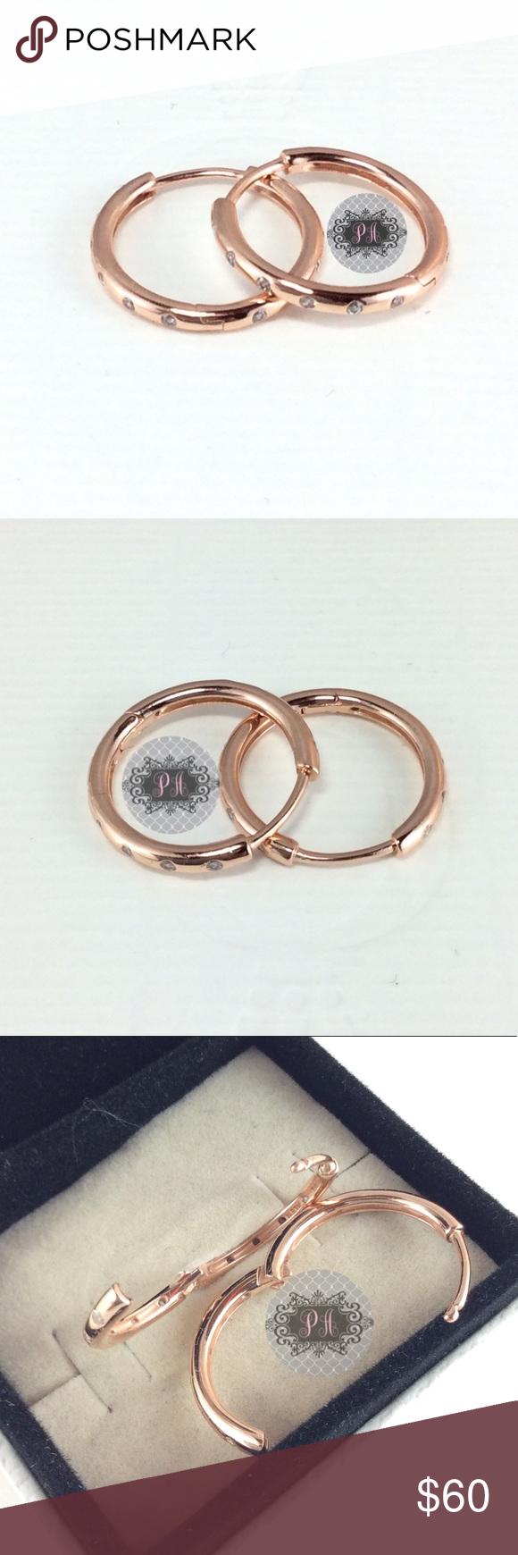 015e2c06e New Pandora Rose Droplets, Clear CZ #286244CZ 100% Authentic Pandora Rose  Gold Droplet