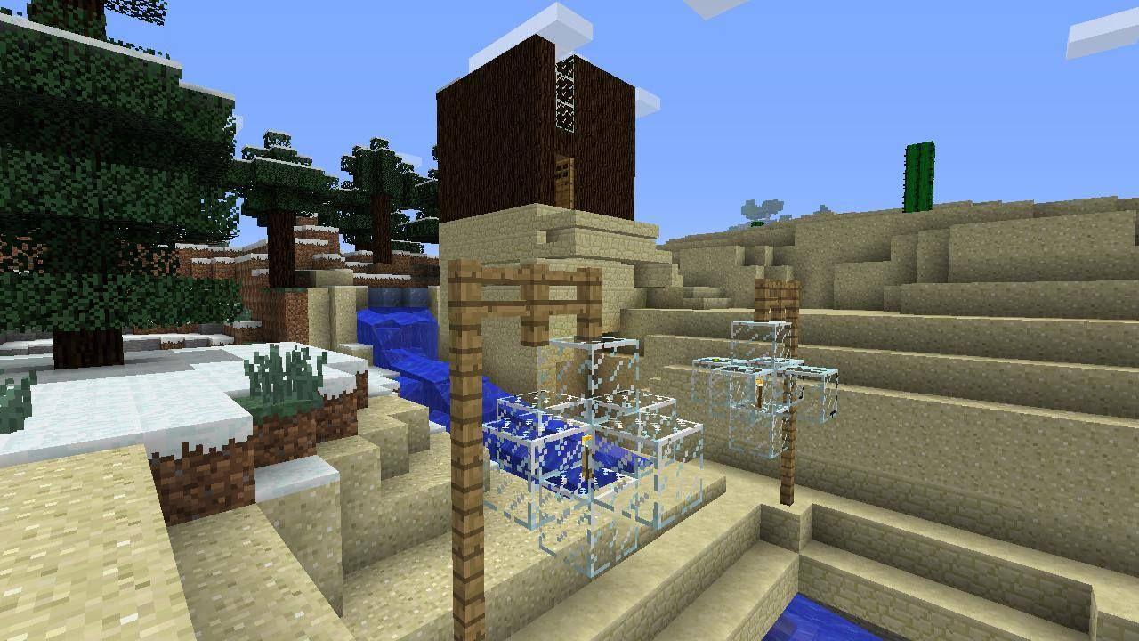 Minecraft modern house design desert house exterior with lanterns