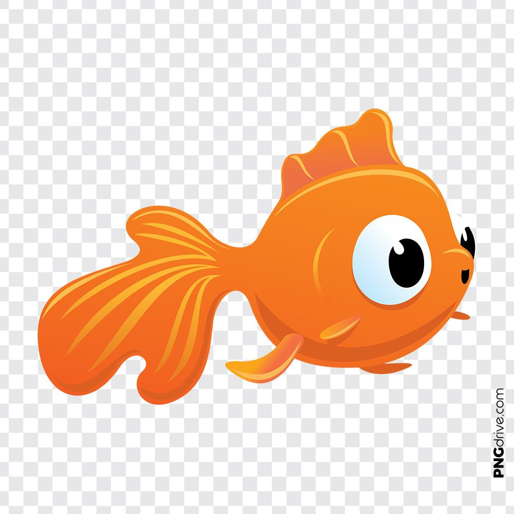 Pin By Png Drive On Gold Fish Png Fish Clipart Golden Fish Clip Art