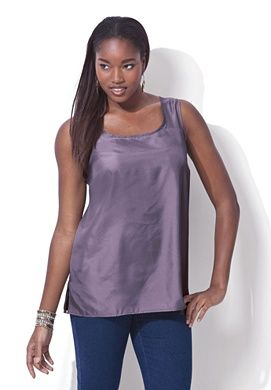 193324cd9f6 Plus Size Reverse Satin Cami | Plus Size Shirts & Blouses | Roamans ...