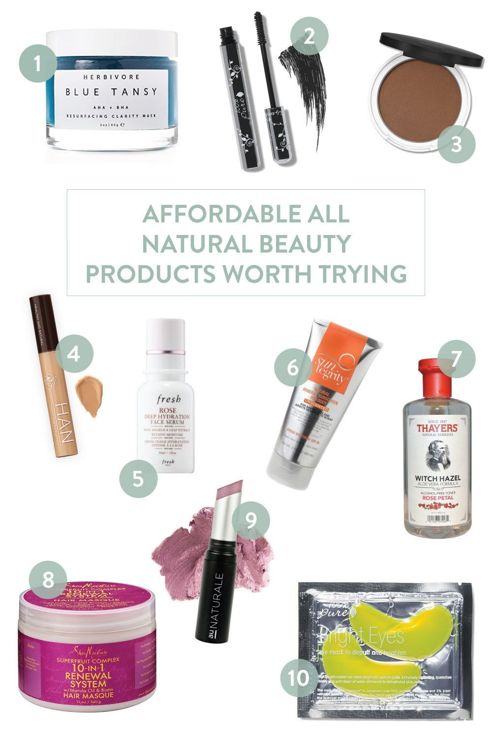 12 Affordable All Natural Beauty Products You Should Try