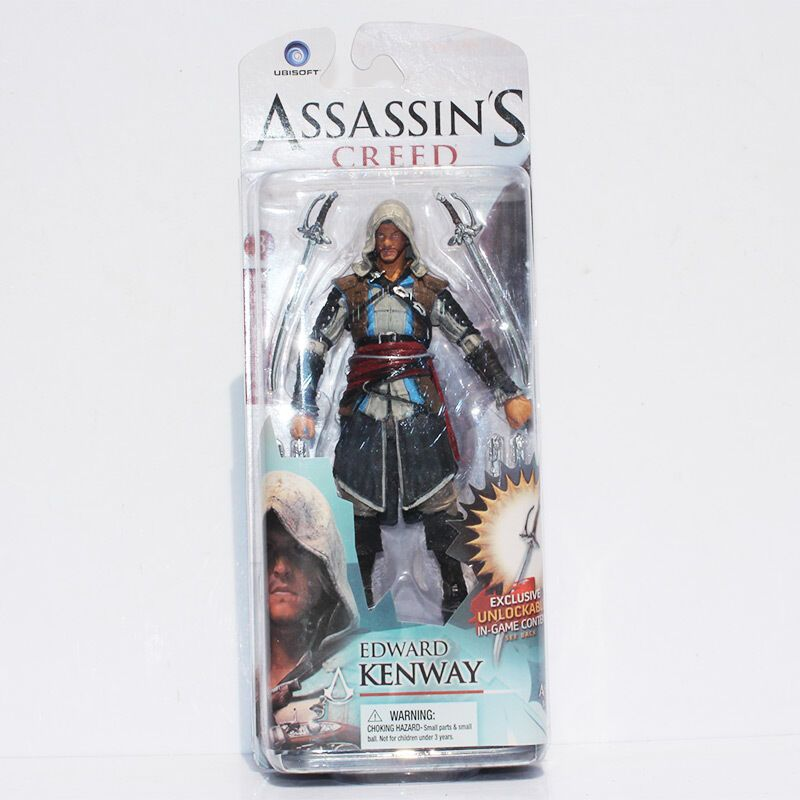 Assassins Creed Toys Action Figures Wallet Pin Set Rings
