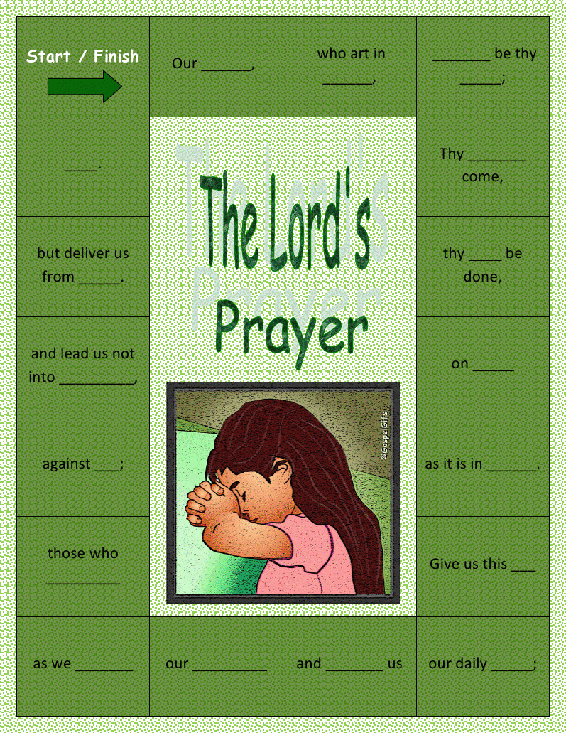 the catholic toolbox our fatherlords prayer activities - Father Coloring Page Catholic