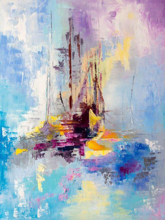 Illusive Boats by Lyubov Kuptsova