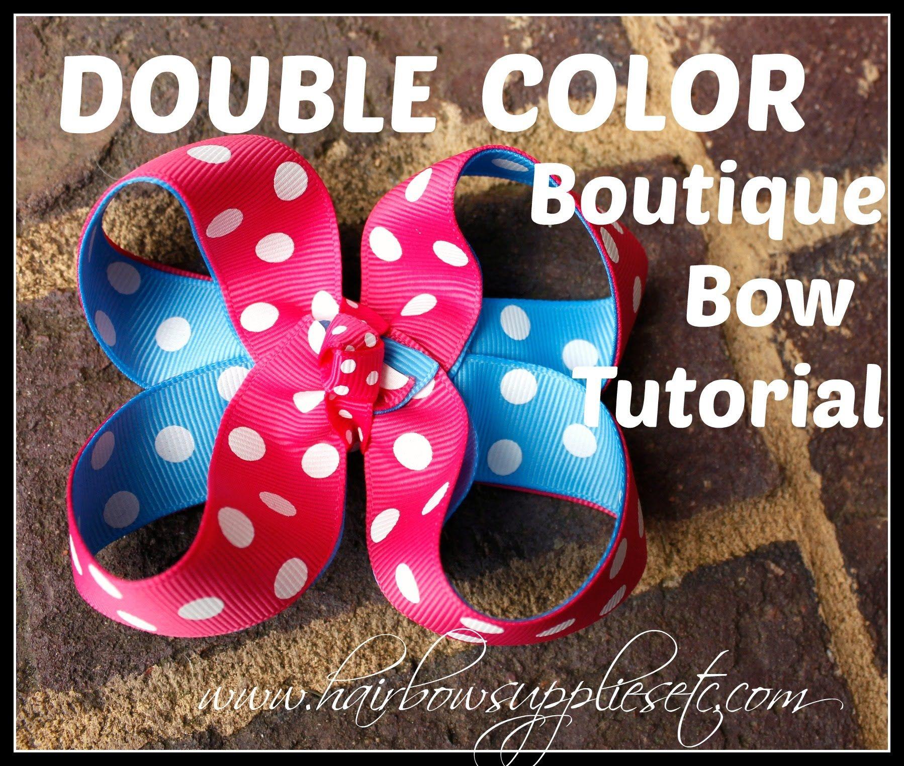 Double color boutique hair bow tutorial hairbow supplies etc double color boutique hair bow tutorial hairbow supplies etc baditri Image collections