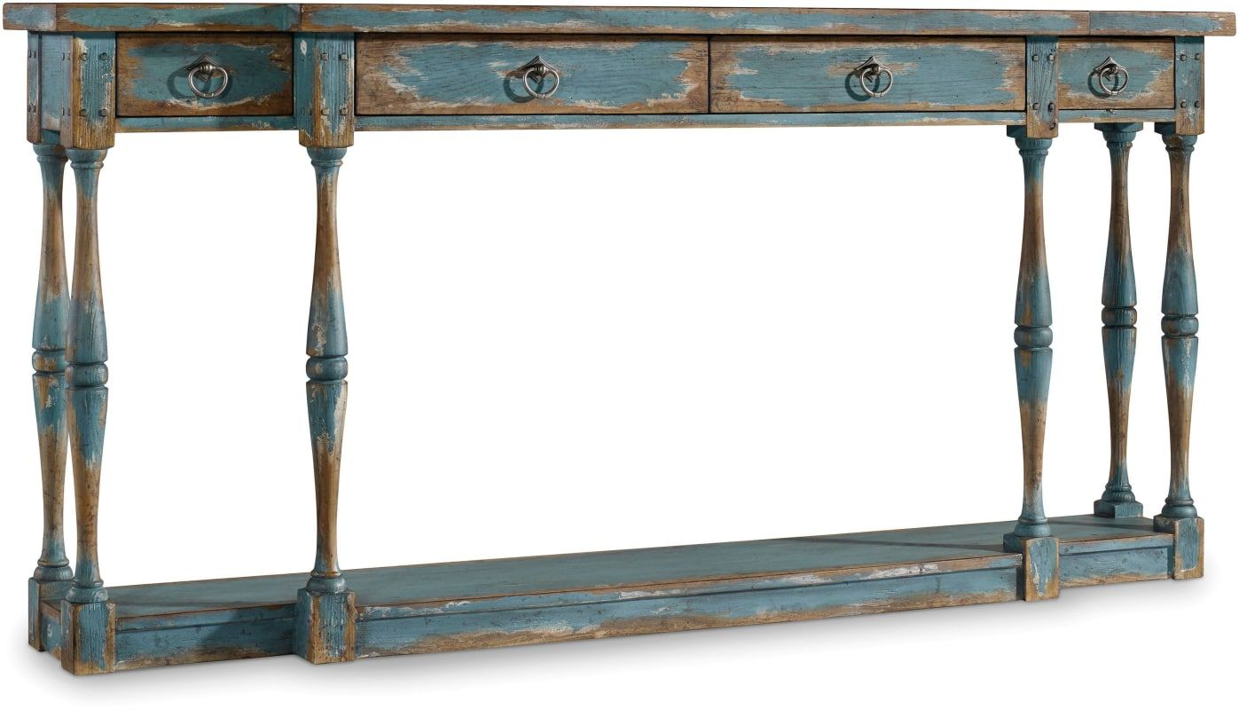 Hooker Furniture 5405 85003 72 Inch Long Hardwood Console Table From