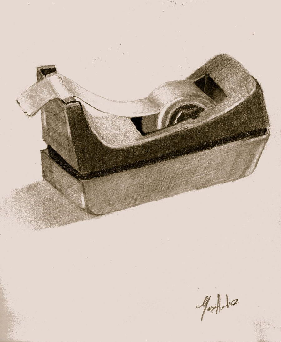 This drawing effectively uses combination of pencil and ...  |Pencil Sketch Simple Object